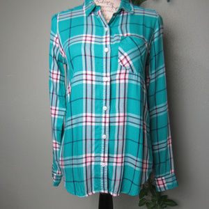 Soft Perfect Plaid button up top